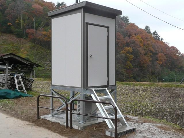 観測局舎の設置
